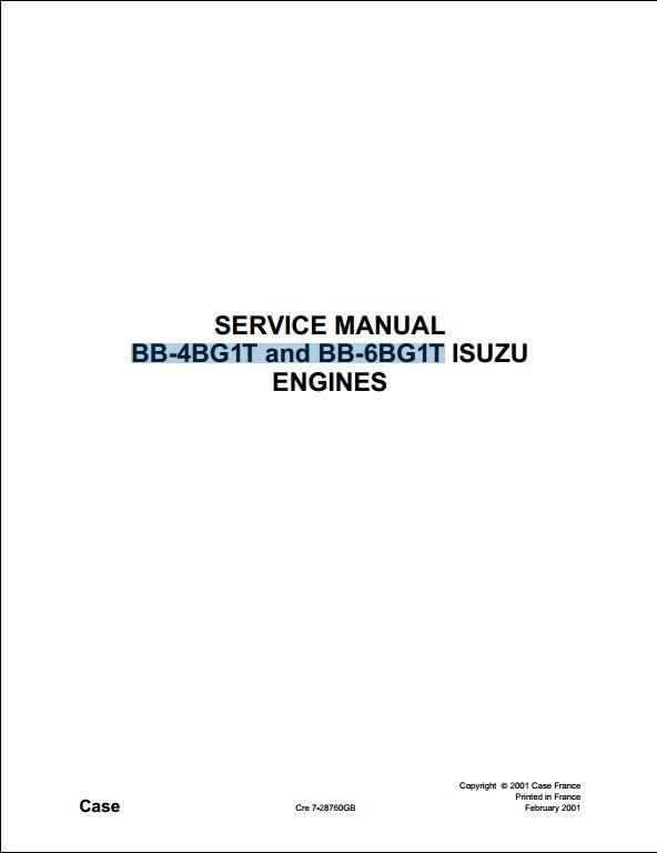 case isuzu bb 4bg1t and bb 6bg1t engine service repair. Black Bedroom Furniture Sets. Home Design Ideas