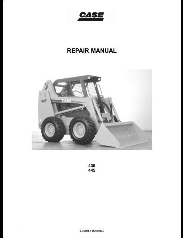 case 435 and 445 skid steers service repair workshop manual a rh arepairmanual com NP246 Transfer Case Wiring Diagram Antec Case Wiring Diagram