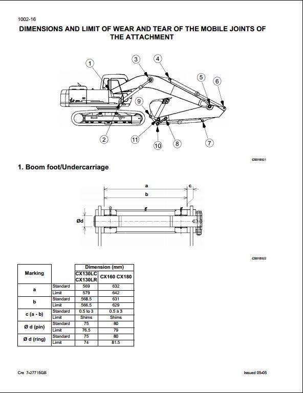 case cx130 crawler excavators service repair workshop manual a rh arepairmanual com Case CX250 Case CX130 Specs