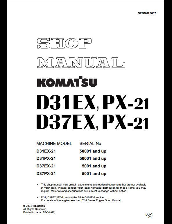 bulldozer a repair manual store troubleshooting procedures for komatsu machine all major topics are covered step by step instruction diagrams illustration wiring schematic