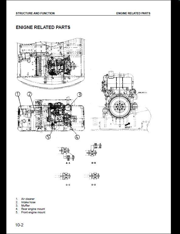 komatsu pw130es 6k hydraulic excavator service repair. Black Bedroom Furniture Sets. Home Design Ideas