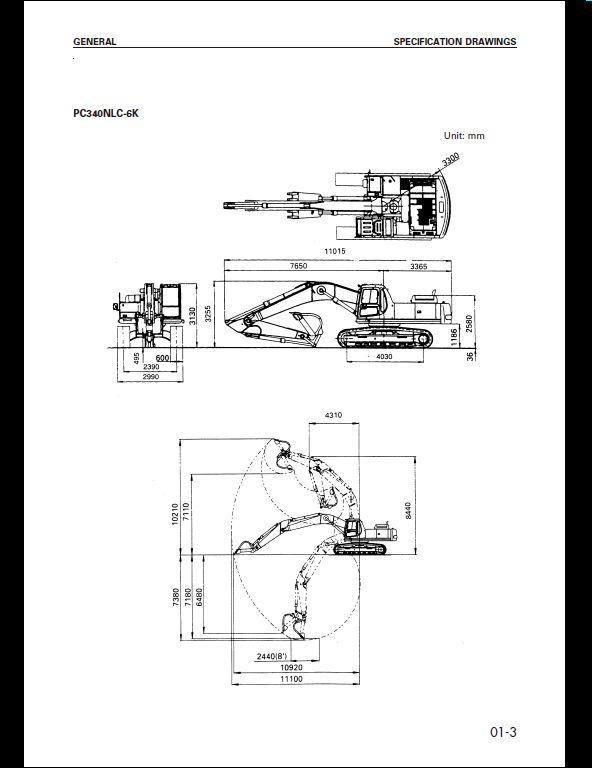 komatsu pc340  pc340lc
