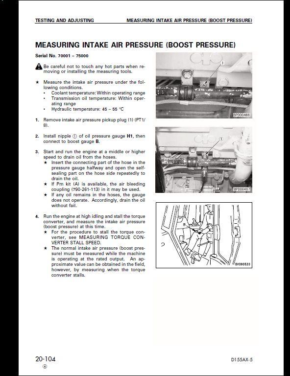 Komatsu D155ax 5 Dozer Bulldozer Service Repair Workshop Manual A Repair Manual Store
