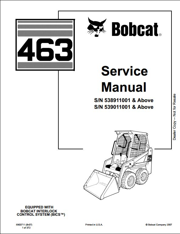 Bobcat_1 113 bobcat 463 skid steer loader service repair workshop manual on 463 bobcat skidsteer wiring diagram