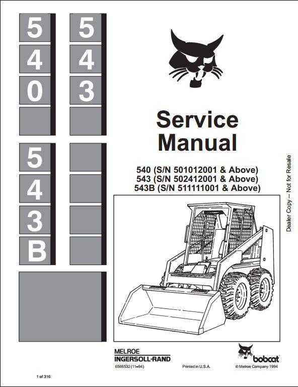540 Bobcat Wiring Diagram Schematic Wiring Diagram