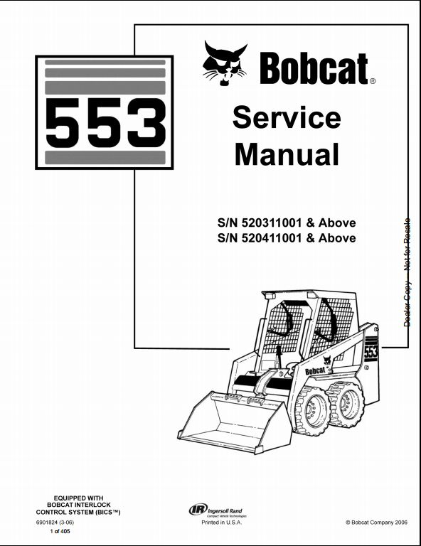 bobcat 553 skid steer loader service repair workshop manual rh arepairmanual com Bobcat 553 Parts Bobcat 553 Parts