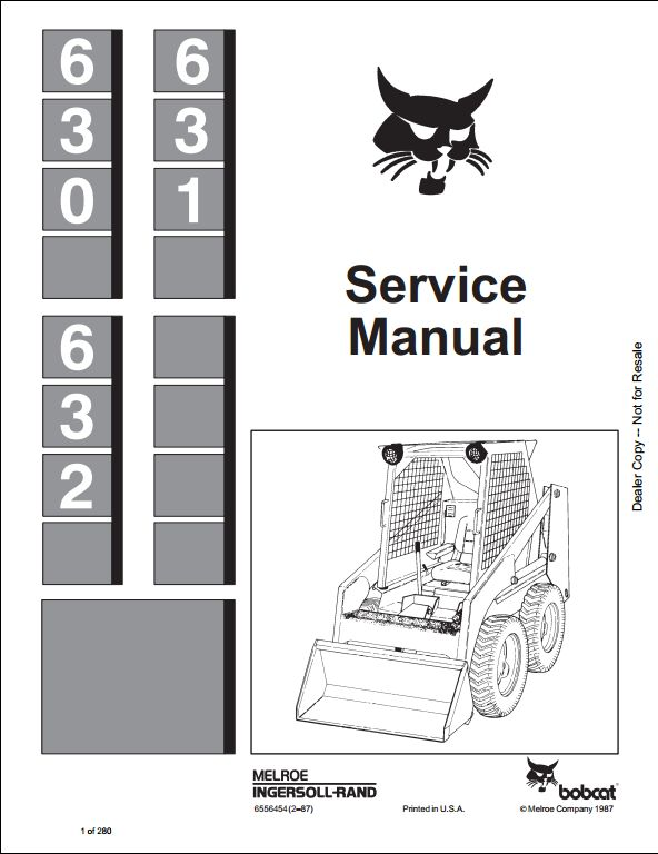 Bobcat 630 631 632 Skid Steer Loader Service Repair