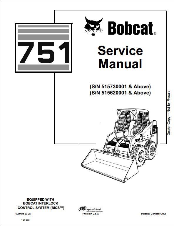 bobcat 751 skid steer loader service repair workshop manual rh arepairmanual com bobcat service manual s220 bobcat service manual pdf