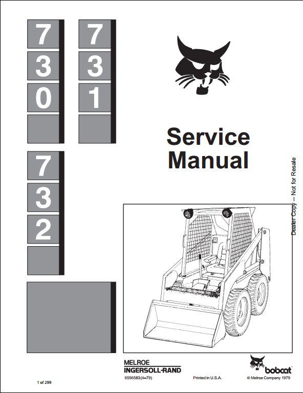 bobcat 730 731 732 skid steer loader service repair workshop manual a repair manual store