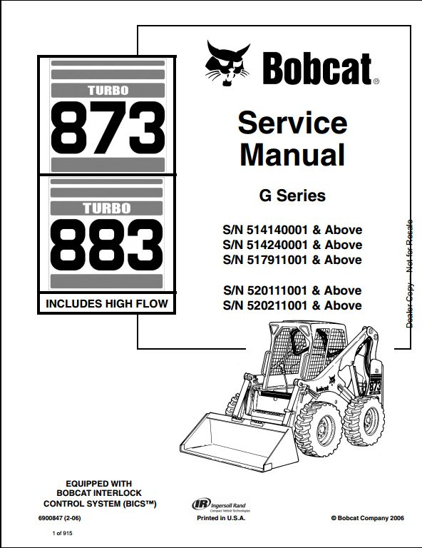 873 bobcat wiring harness bobcat 873 883 turbo skid steer loader service repair ... e32 bobcat wiring schematic