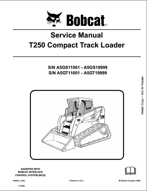 bobcat t250 compact track loader service repair workshop. Black Bedroom Furniture Sets. Home Design Ideas