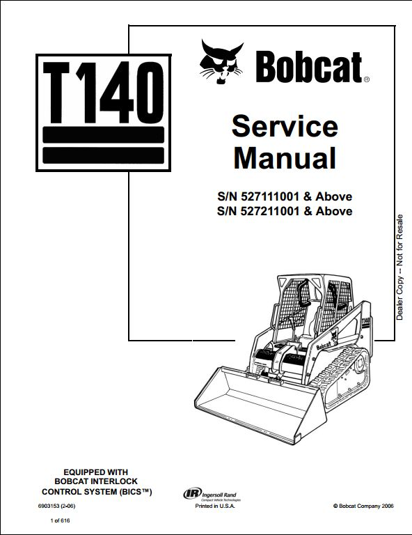 Bobcat T140 Turbo Track Loader Service Repair Workshop