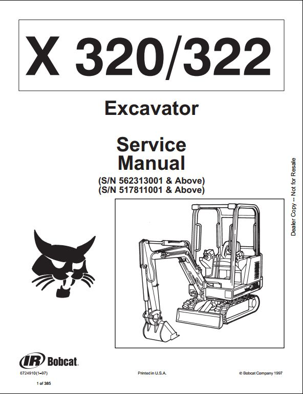 Bobcat_1 25 bobcat x320 322 mini excavator service repair workshop manual Bobcat 325 Mini Excavator at panicattacktreatment.co