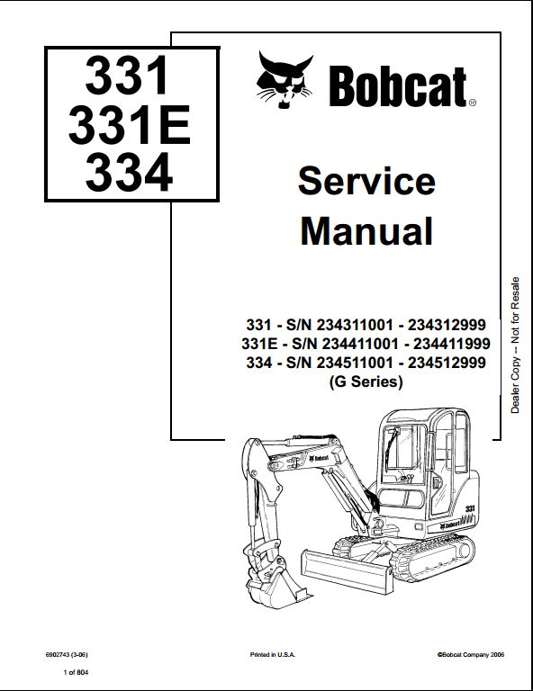 bobcat 331 331e 334 mini excavator service repair workshop manual rh arepairmanual com bobcat 331 mini excavator wiring diagram bobcat 331 mini excavator wiring diagram