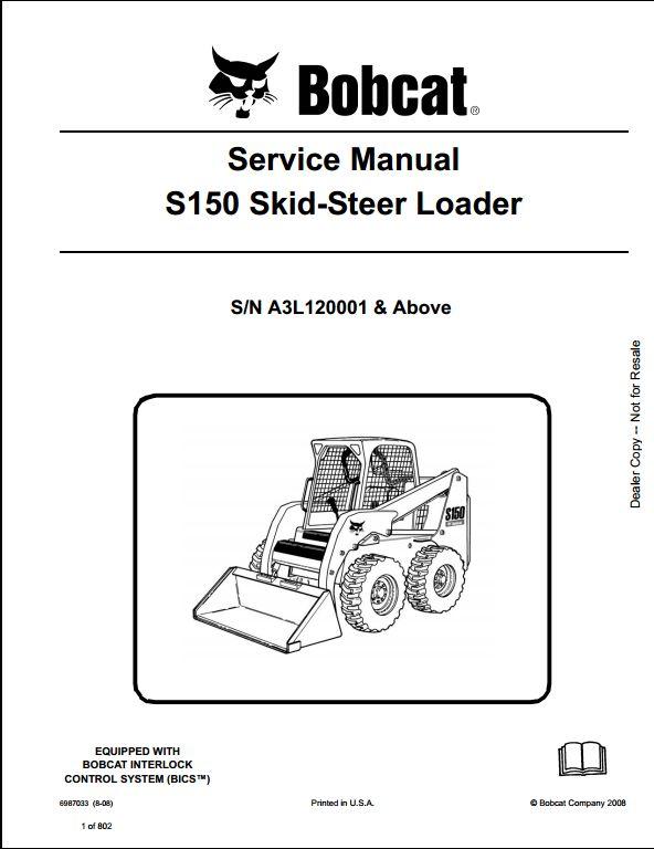 bobcat 2200 wiring diagram bobcat s150 skid steer loader service repair workshop ... bobcat s150 wiring diagram #4
