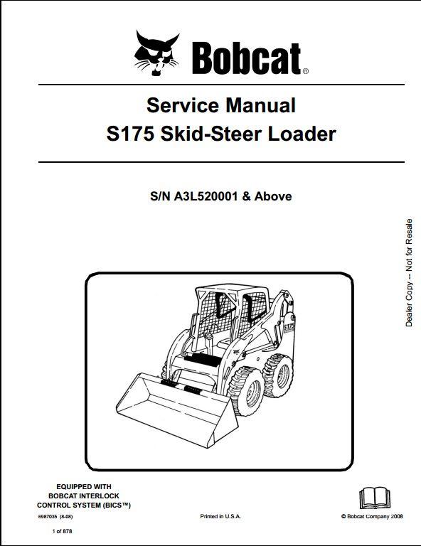 skid steer loader a repair manual store part 3