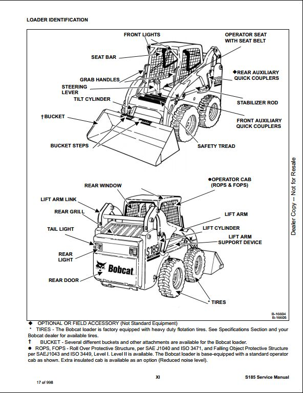 bobcat s185 skid steer loader service repair workshop