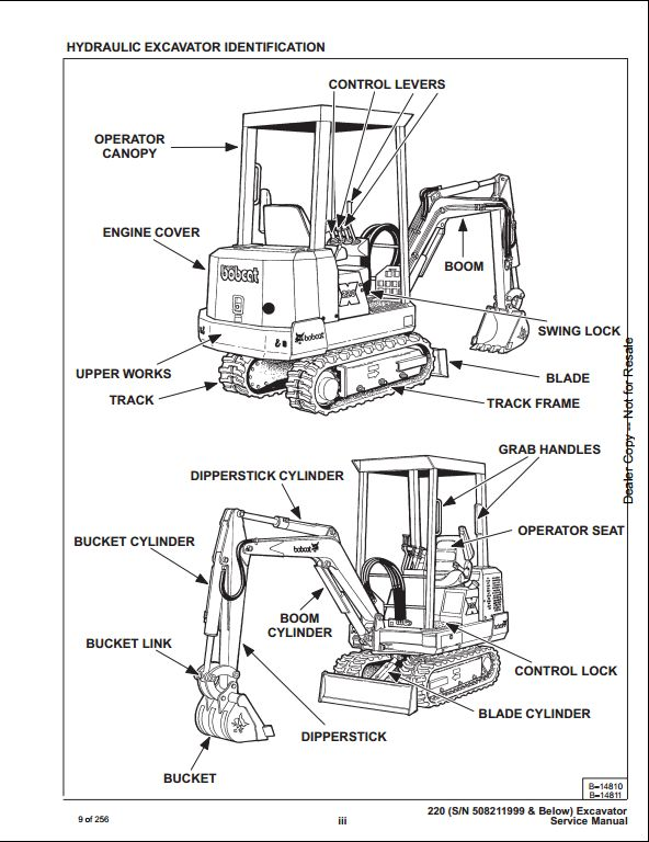 bobcat x220 mini excavator service repair workshop manual 508211999