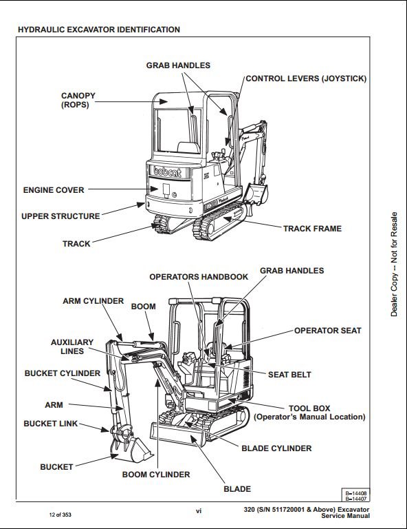 Bobcat X320 Mini Excavator Service Repair Workshop Manual 511720001