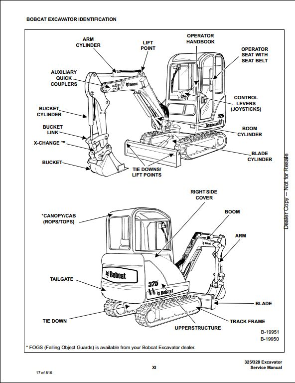 2007 bobcat 325  328 compact excavator service repair workshop manual 234111001
