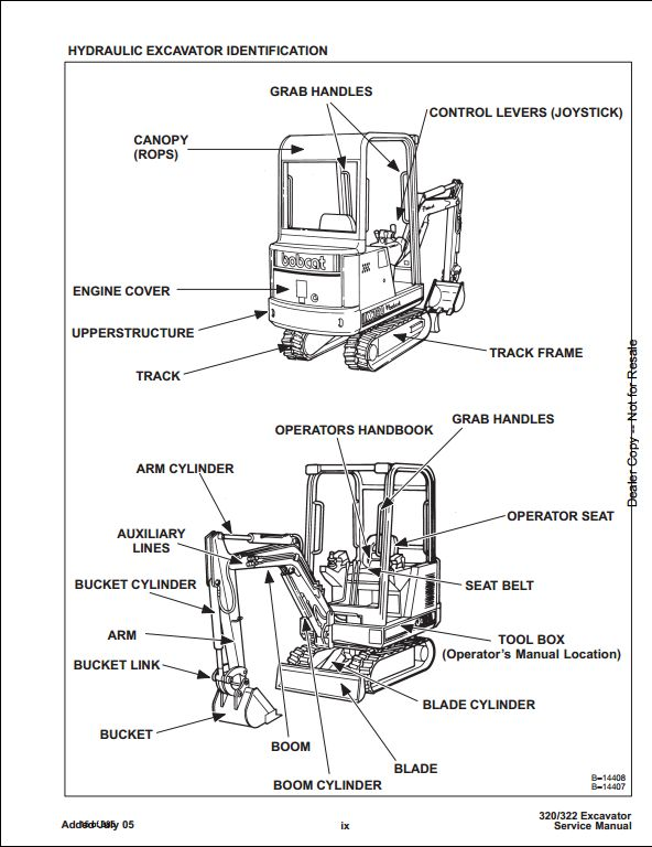 Bobcat X320  322 Mini Excavator Service Repair Workshop