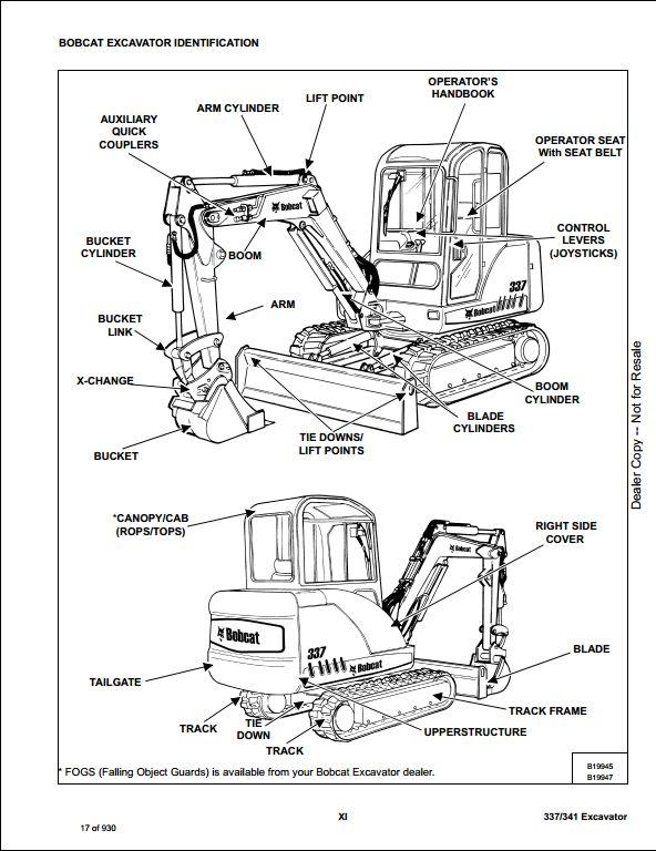 2008 bobcat 337  341 compact excavator service repair workshop manual aac811001