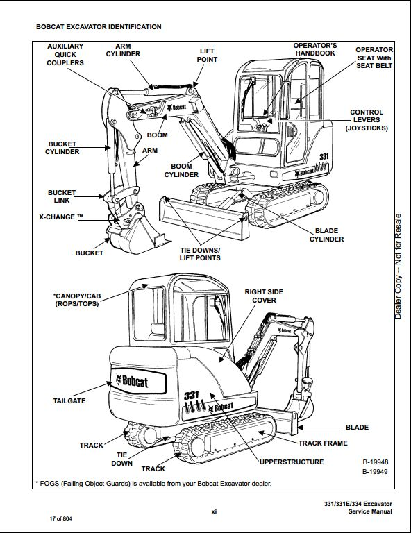 Bobcat 331 331e 334 Mini Excavator Service Repair Workshop Manual 234311001 234511001 on t300 bobcat wiring diagram