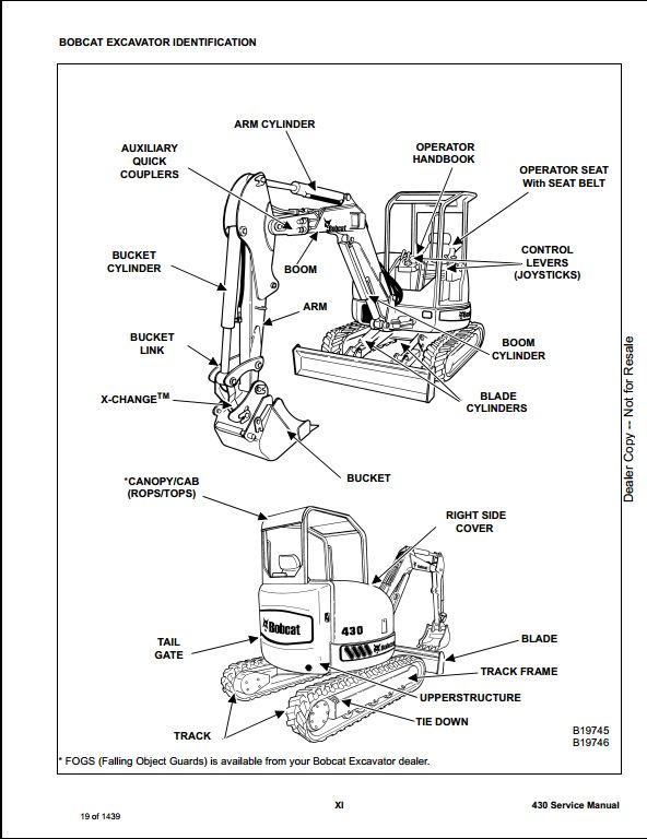 bobcat 430 mini excavator service repair workshop manual 562511001 rh arepairmanual com