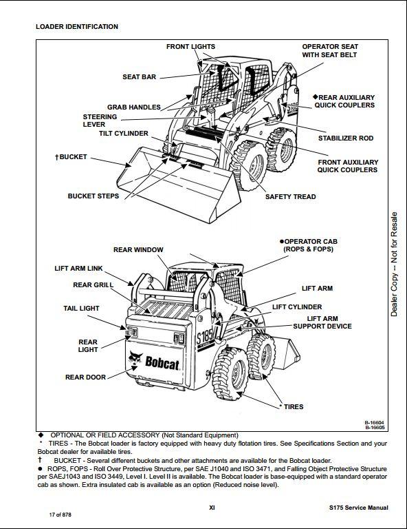 Bobcat S175 Skid Steer Loader Service Repair Workshop