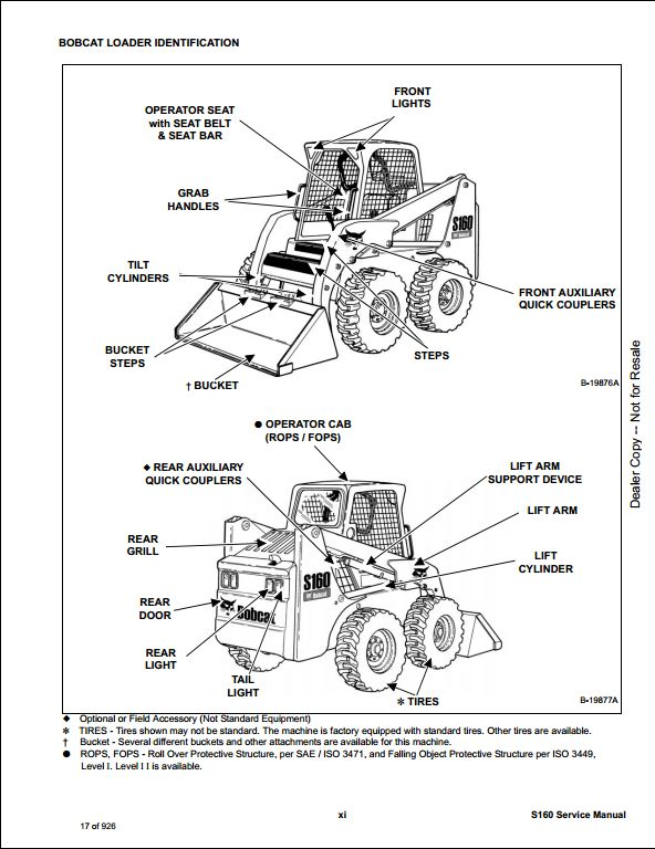 bobcat loader parts diagram bobcat s160 skid steer loader service repair workshop manual 529960001-ac3260001 | a repair ...