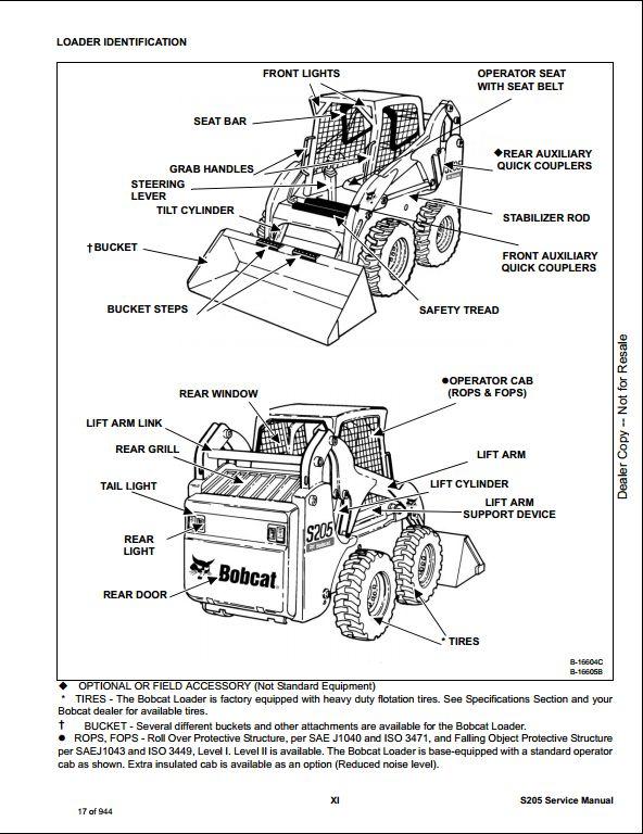 bobcat s205 skid steer loader service repair workshop. Black Bedroom Furniture Sets. Home Design Ideas