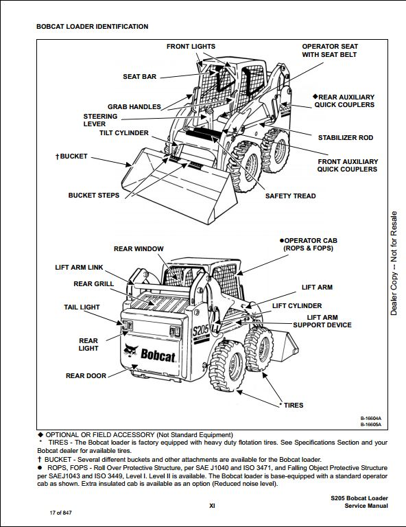 bobcat s205 turbo high flow skid steer loader service repair workshop manual 528411001