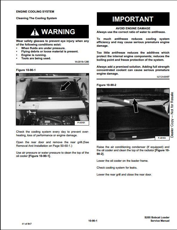 Bobcat S205 Turbo High Flow Skid Steer Loader Service Repair Workshop  Manual 528411001-528511001