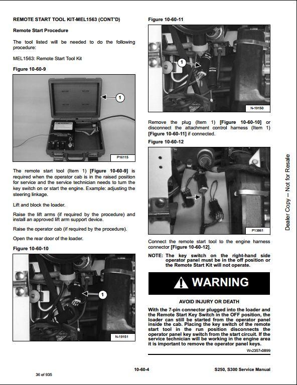 Bobcat S250 S300 Skid Steer Loader Service Repair Workshop Manual A5gm11001