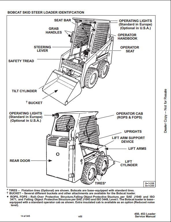 bobcat 753 parts diagram model bobcat 450 453 skid steer loader service repair workshop manual 561711001-561811001 | a repair ...