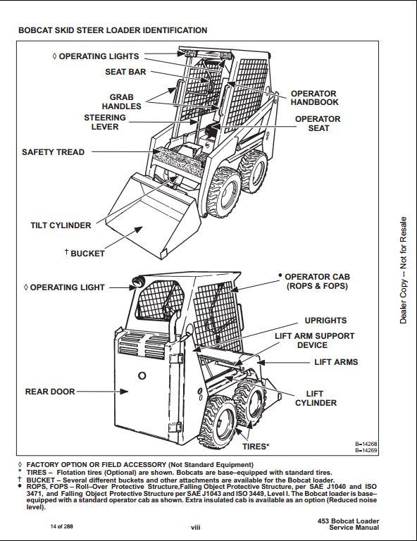 bobcat 453 skid steer loader service repair workshop bobcat 453 service manual bobcat 453 manual pdf free