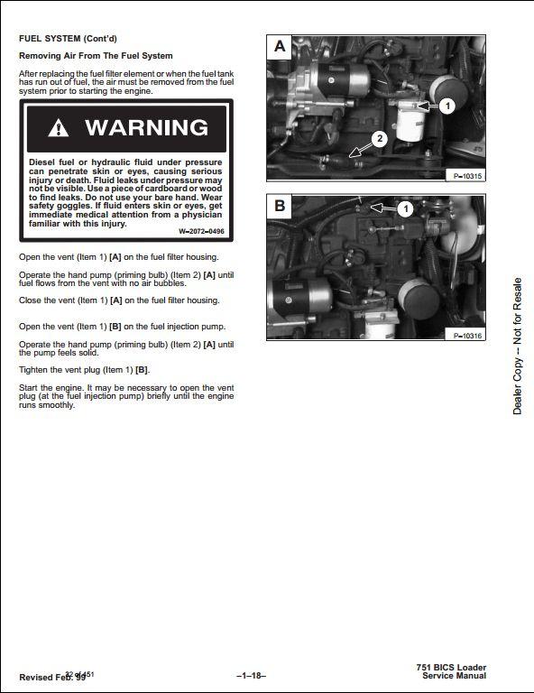 bobcat 751 skid steer loader service repair workshop manual 515711001