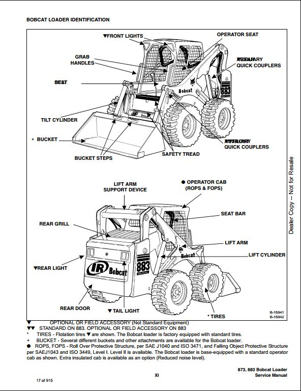 Bobcat 873 883 Turbo Skid Steer Loader Service Repair