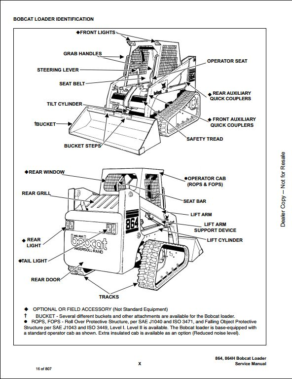 bobcat 864 high flow skid steer loader service repair workshop rh arepairmanual com 864 Bobcat Parts Catalog 864 Bobcat Parts Catalog