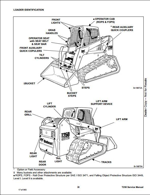 2008 Bobcat T250 Compact Track Loader Service Repair