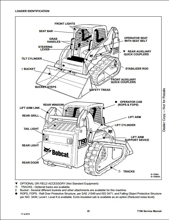 2008 Bobcat T190 Compact Track Loader Service Repair Workshop Manual 531660001