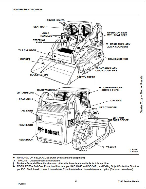 bobcat t190 compact track loader service repair workshop ... bobcat t190 wiring schematic