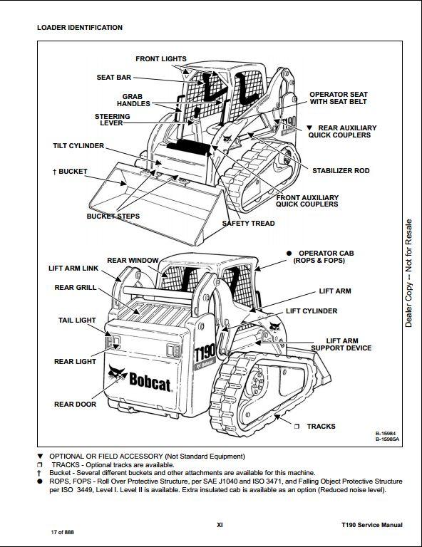 2008 Bobcat T190 Compact Track Loader Service Repair