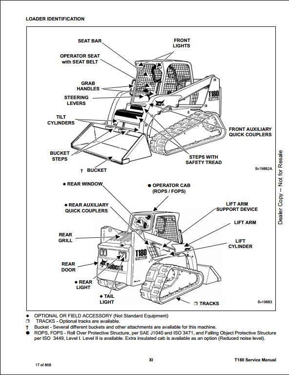 bobcat t180 compact track loader service repair workshop manual 531460001