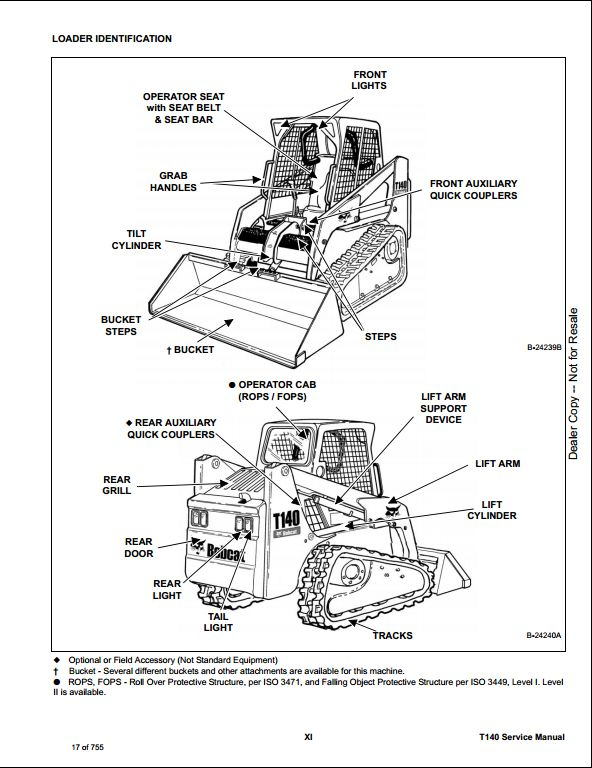 2008 bobcat t140 compact track loader service repair workshop manual s  n a3l720001  u0026 above s  n