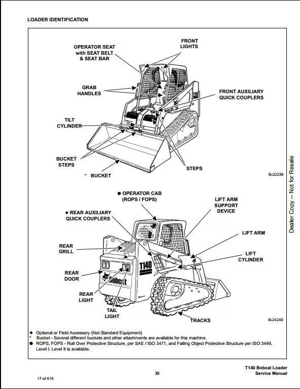 bobcat t140 parts diagram