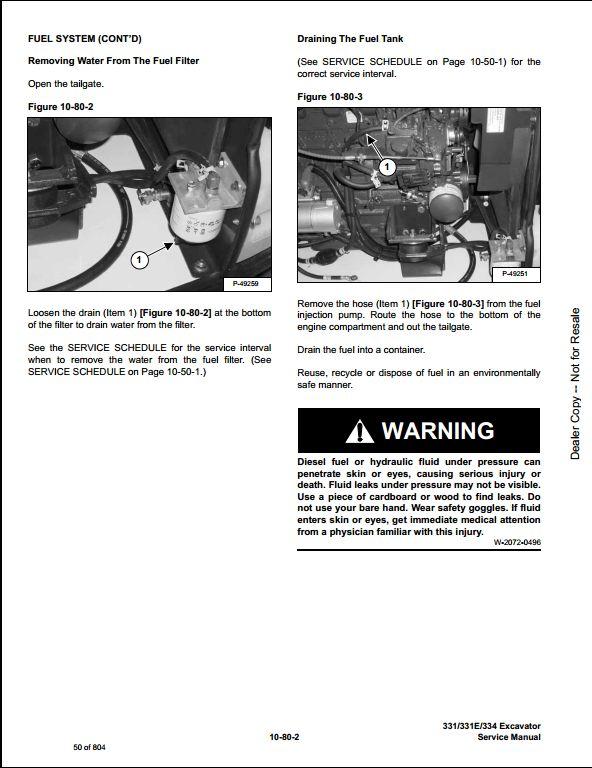 instant download 2006 bobcat 331 331e 334 mini excavator service repair  workshop manual 234311001-234511001 this manual content all service,  repair,