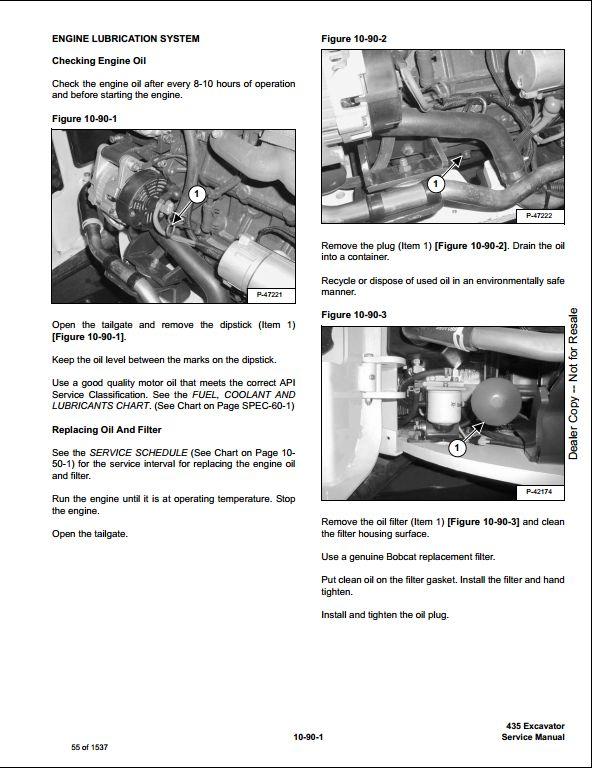 bobcat 435 mini excavator service repair workshop manual