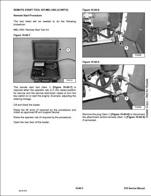 bobcat s70 skid steer loader service repair workshop ... bobcat s70 wiring diagram bobcat 743b wiring diagram