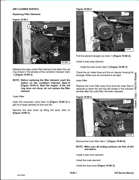 bobcat s70 skid steer loader service repair workshop ... 1998 volvo s70 wiring diagram component identification